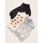 Halloween Ankle Socks 3-Pack for Girls