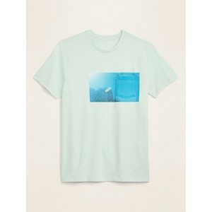 Graphic Soft-Washed Chest-Pocket Tee for Men
