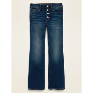 High-Waisted Built-In Tough Button-Fly Flare Jeans for Girls