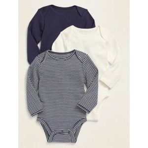 Long-Sleeve Bodysuit 3-Pack for Baby