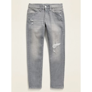 POPSUGAR x Old Navy Karate Built-In Flex Max Gray Distressed Slim Taper Jeans