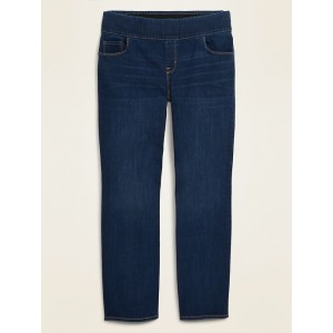 High-Waisted Pull-On Plus-Size Kicker Boot-Cut Jeans