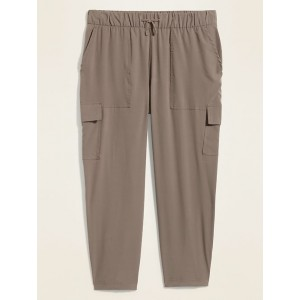 High-Waisted StretchTech Utility Plus-Size Ankle Pants