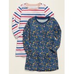 Patterned Jersey Nightgown 2-Pack for Toddler Girls & Baby