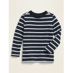Long-Sleeve Striped Crew-Neck Tee for Toddler Boys
