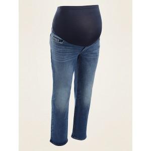 Maternity Full-Panel Straight Jeans