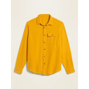 Regular-Fit Double-Brushed Cotton Shirt for Men