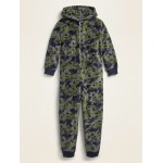 Cozy Hooded One-Piece Pajamas for Boys
