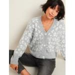 Cozy Leopard-Print V-Neck Cardigan Sweater for Women
