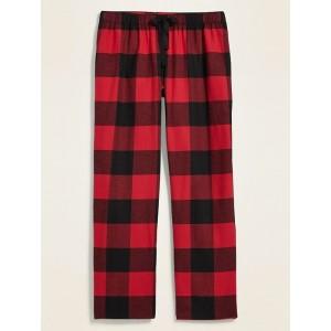 Patterned Flannel Plus-Size Pajama Pants