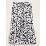 Printed Tiered-Hem Maxi Skirt for Women