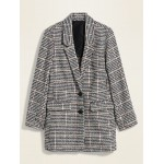 Oversized Textured Pattern Blazer for Women