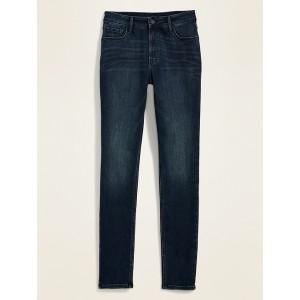 High-Waisted Rockstar Super Skinny Dark-Wash Jeans for Women