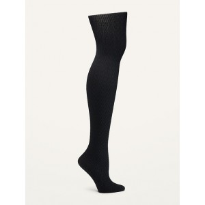 Patterned Control-Top Nylon Tights for Women
