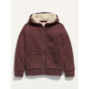 Cozy Sherpa-Lined Zip Hoodie for Boys