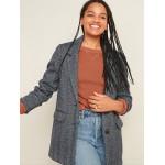 Oversized Soft-Brushed Tweed Blazer for Women