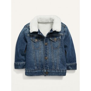 Unisex Sherpa-Lined Jean Trucker Jacket for Baby