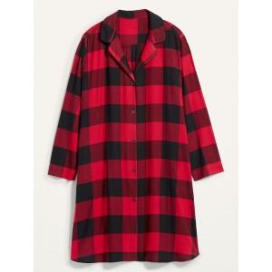 Buffalo Plaid Flannel Plus-Size Nightgown