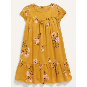 Floral Ruffle-Hem Dress for Toddler Girls