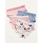 Printed Bikini Underwear 4-Pack for Toddler Girls
