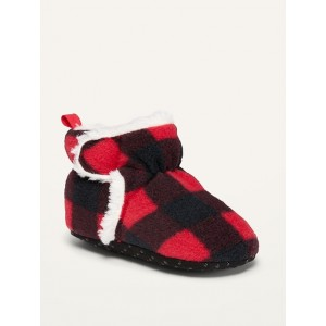 Unisex Sherpa-Lined Micro Fleece Booties for Baby