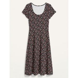 Jersey-Knit Scoop-Neck Fit & Flare Midi Dress for Women