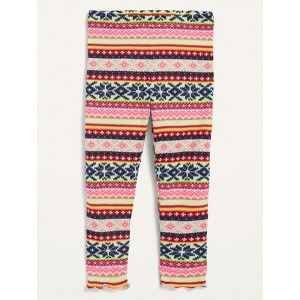 Cozy Plush-Knit Fair Isle Leggings for Toddler Girls