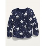Printed Long-Sleeve Scoop-Neck Tee for Toddler Girls