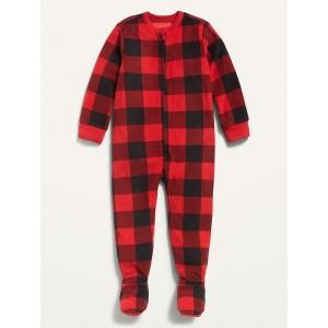 Micro Fleece Plaid Footie Pajama One-Piece for Toddler & Baby
