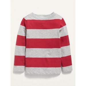 Long-Sleeve Striped Tee for Toddler Boys