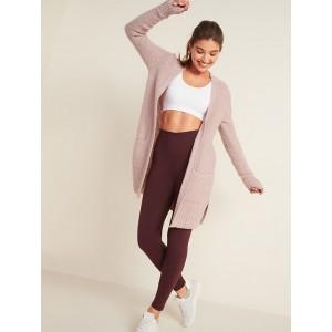 Cozy Bouclé Open-Front Long-Line Sweater for Women