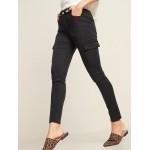 High-Waisted Sateen Rockstar Super Skinny Cargo Pants for Women