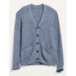 V-Neck Button-Front Cardigan Sweater for Men
