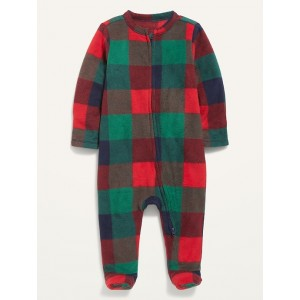 Unisex Micro Fleece Footed One-Piece for Baby