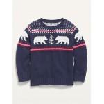 Fair Isle Crew-Neck Sweater for Toddler Boys