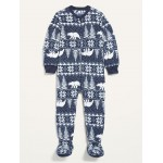 Unisex Micro Fleece Fair Isle Footie Pajama One-Piece for Toddler & Baby