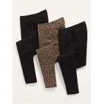 High-Waisted Jersey Leggings 3-Pack for Women