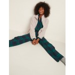 Patterned Flannel Pajama Set for Women