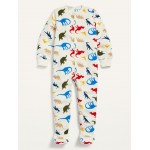Unisex Dino-Print Footie Pajama One-Piece for Toddler & Baby
