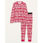 Patterned Jersey Pajama Set for Men