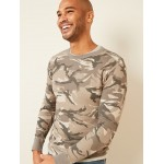 Camo Thermal-Knit Long-Sleeve Tee for Men