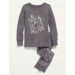 Graphic Pajama Set for Toddler Girls & Baby