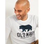Soft-Washed Logo-Graphic Thermal-Knit Long-Sleeve Tee for Men