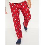 Printed Flannel Pajama Pants for Men