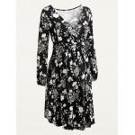 Maternity Cross-Front Jersey Long-Sleeve Dress