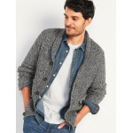 Textured Shawl-Collar Cardigan Sweater for Men
