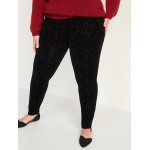 High-Waisted Stevie Secret-Slim Leopard-Print Plus-Size Pants