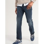 Straight Built-In Flex Dark-Wash Jeans for Men