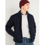 Soft-Brushed Snap-Front Bomber Jacket for Men