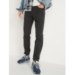 Relaxed Slim Taper Built-In Flex Textured Twill Jeans for Men